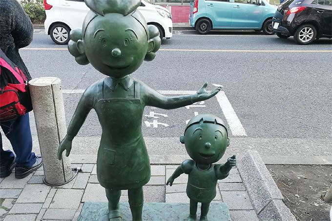 近くの桜新町はむかし長谷川町子が住んでいた町で、サザエさんの町として有名だそうです。長谷川町子美術館があります。